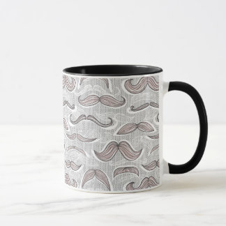 Motif à la mode de moustache tasses