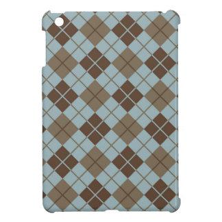Motif à motifs de losanges dans le bleu et le étuis iPad mini