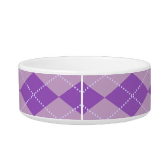 Motif à motifs de losanges lilas bols pour chat