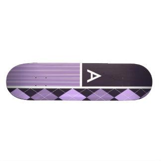 Motif à motifs de losanges pourpre plateaux de skate