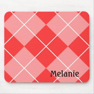 Motif à motifs de losanges rouge et rose tapis de souris