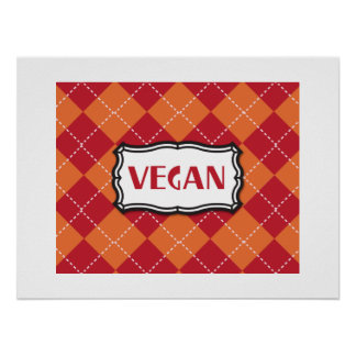 Motif à motifs de losanges végétalien posters