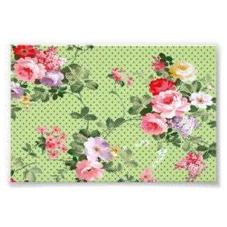 motif à pois de belles fleurs florales vintages photographies d'art