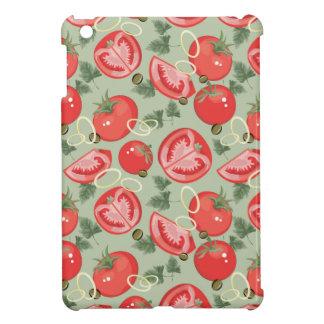 Motif abstrait avec la tomate coque iPad mini