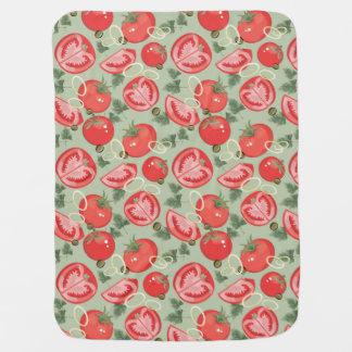 Motif abstrait avec la tomate couvertures pour bébé
