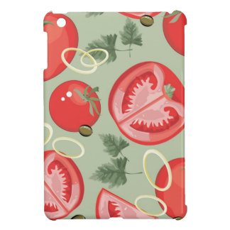 Motif abstrait avec la tomate étui iPad mini
