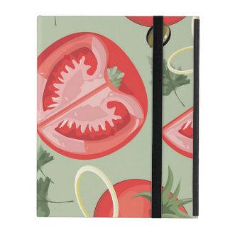 Motif abstrait avec la tomate étuis iPad