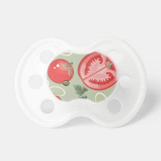 Motif abstrait avec la tomate tétine pour bébé