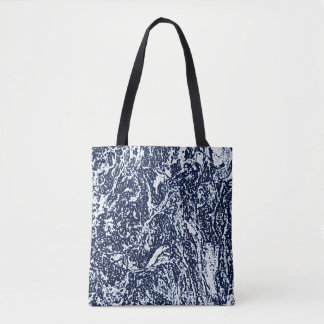Motif abstrait bleu-foncé tote bag