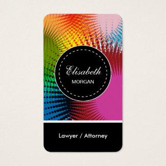 Motif abstrait coloré d'avocat/mandataire cartes de visite