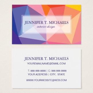 Motif abstrait coloré de triangle cartes de visite
