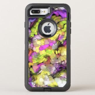 Motif abstrait coloré frais génial d'éclaboussure coque otterbox defender pour iPhone 7 plus