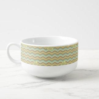 motif abstrait coloré, vagues bol à soupe