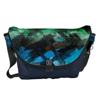 Motif abstrait d aquarelle de vert bleu sacoches
