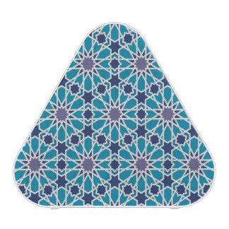 Motif abstrait dans bleu et gris haut-parleur bluetooth