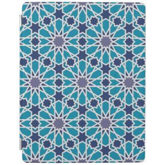 Motif abstrait dans bleu et gris protection iPad