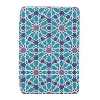 Motif abstrait dans bleu et gris protection iPad mini