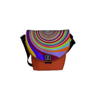 Motif abstrait de cercle dans des couleurs multi sacoche