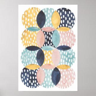 Motif abstrait de cercle poster
