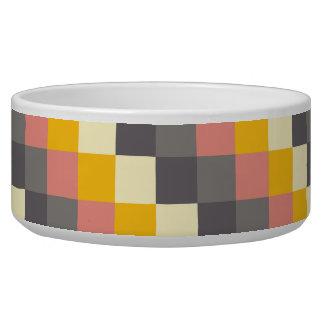 Motif abstrait de couleur de grille bol pour chien