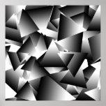 Motif abstrait de mode de triangles de monochrome affiche