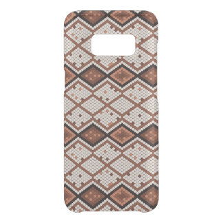 Motif abstrait de peau de serpent en Brown et Coque Get Uncommon Samsung Galaxy S8