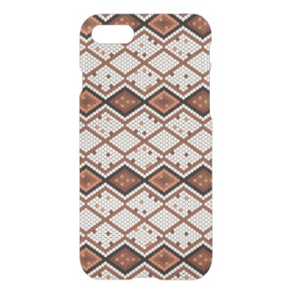 Motif abstrait de Serpent-Peau en Brown et blanc Coque iPhone 7