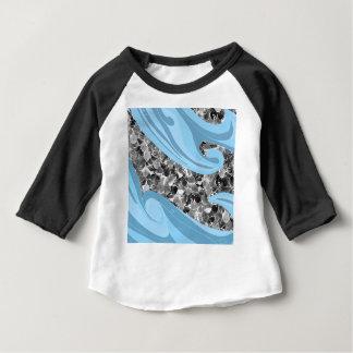Motif abstrait d'échelles de sirène de vagues t-shirt pour bébé