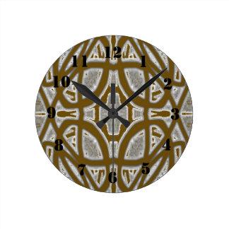 Motif abstrait décoratif horloge ronde
