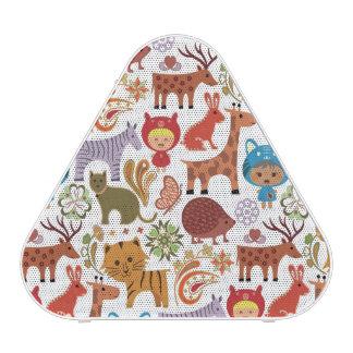 Motif abstrait d'enfant et d'animaux haut-parleur bluetooth