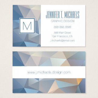 Motif abstrait frais de triangle cartes de visite