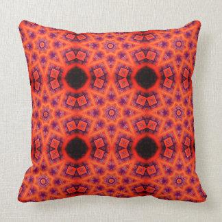 Motif abstrait géométrique orange et pourpre coussin