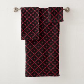 Motif abstrait géométrique rouge et noir