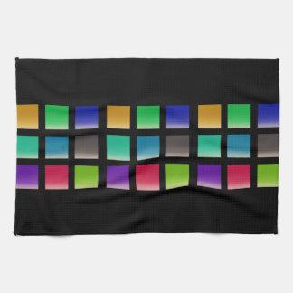 Motif abstrait moderne de carrés serviette pour les mains