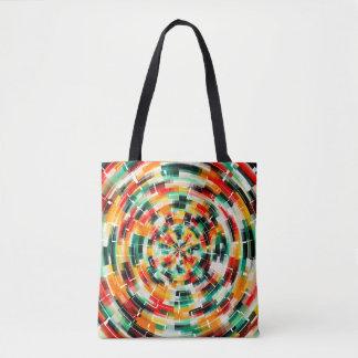 Motif abstrait multicolore tote bag