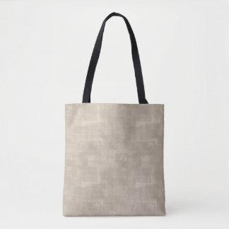 Motif abstrait neutre de carrés de Brown Sac