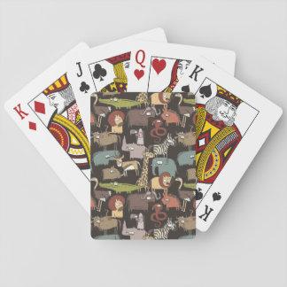 Motif africain d'animaux cartes à jouer