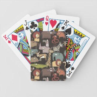 Motif africain d'animaux jeu de cartes