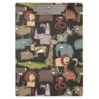 Motif africain d'animaux porte-bloc