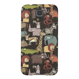 Motif africain d'animaux protections galaxy s5