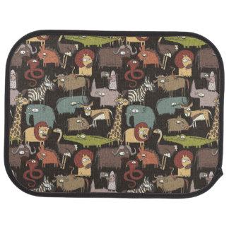 Motif africain d'animaux tapis de voiture