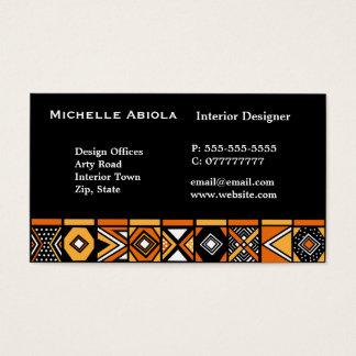 Motif africain d'art cartes de visite