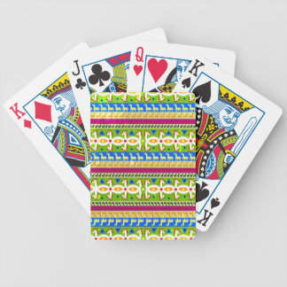 Motif africain de licorne jeux de cartes