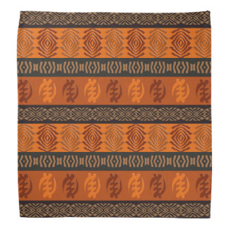 Motif africain ethnique avec des simbols d'Adinkra Bandana