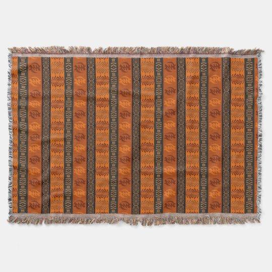 Motif africain ethnique avec des simbols d'Adinkra Couverture