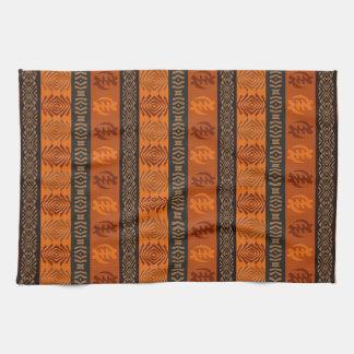Motif africain ethnique avec des simbols d'Adinkra Serviettes Éponge
