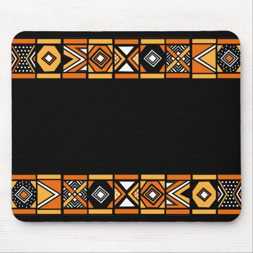 motif africain tapis de souris zazzle. Black Bedroom Furniture Sets. Home Design Ideas