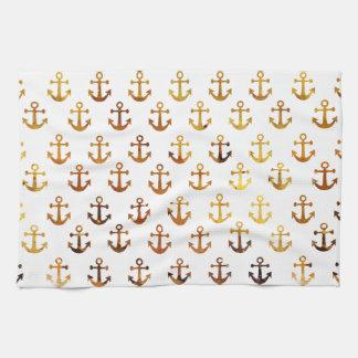 Motif ambre d'ancres de texture serviette éponge