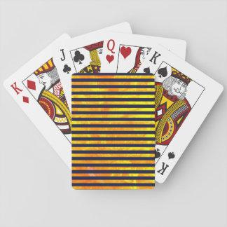 Motif ambre de rayures de l'arrière - plan | jeu de cartes
