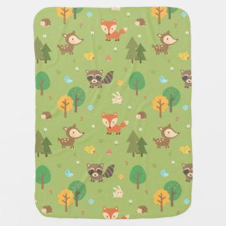 Motif animal de région boisée mignonne de forêt couvertures de bébé